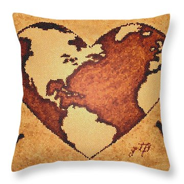 Earth Day Gaia Celebration Digital Art Throw Pillow by Georgeta  Blanaru