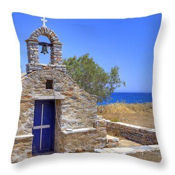 east coast Naxos Throw Pillow by Joana Kruse