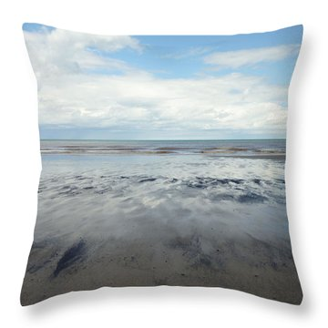 East Coast Seascape Throw Pillow by Sarah Couzens
