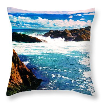 Ebbing Tide Throw Pillow by Phill Petrovic
