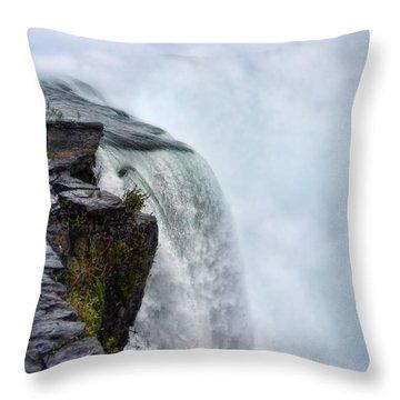 Edge Of Niagara Falls Throw Pillow by Jill Battaglia