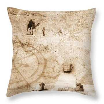 Egyptian Collage Throw Pillow by Chris Knorr