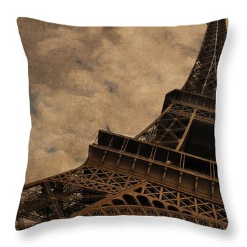 Eiffel Tower 2 Throw Pillow by Mary Machare
