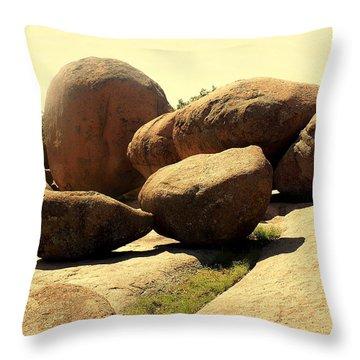 Elaphant Rocks 4 Throw Pillow by Marty Koch