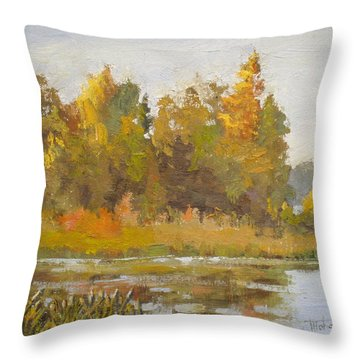 Elk Island 5 Throw Pillow by Mohamed Hirji