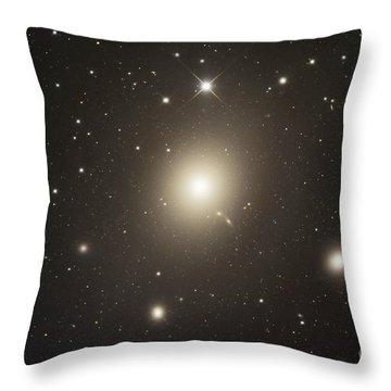 Elliptical Galaxy Messier 87 Throw Pillow by Robert Gendler