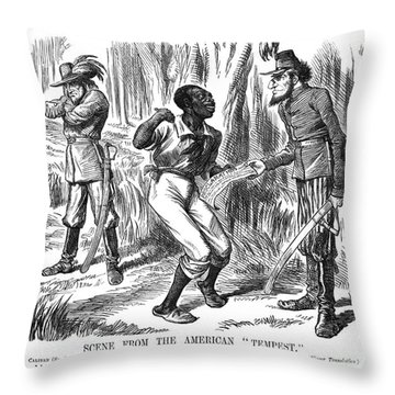 Emancipation Cartoon, 1863 Throw Pillow by Granger