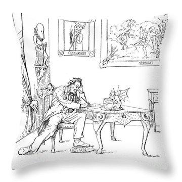 Emancipation Cartoon Throw Pillow by Granger