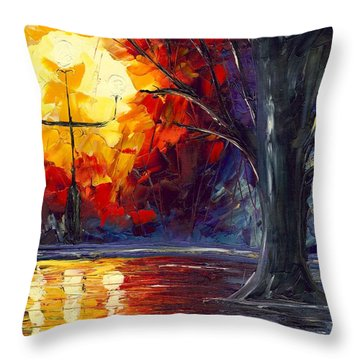 Enchanted Forest Throw Pillow by Jessilyn Park
