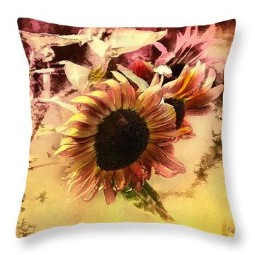 End Of Season Throw Pillow by Elaine Manley