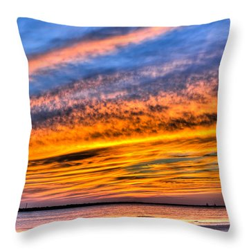 Endless Color Throw Pillow by Andrew Crispi