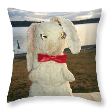 Energizer Bunny No More Throw Pillow by Kym Backland