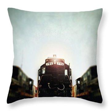 Engine795 Throw Pillow by Stephanie Frey