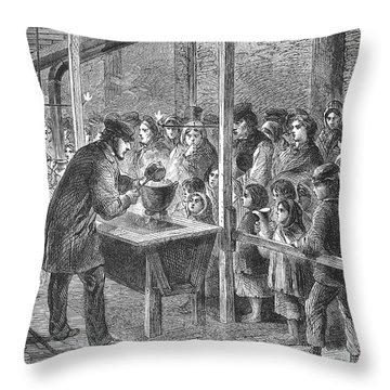 England: Soup Kitchen, 1862 Throw Pillow by Granger