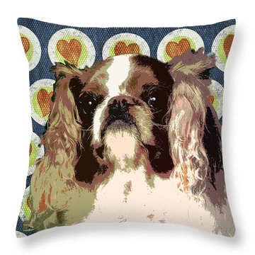 English Toy Spaniel Throw Pillow by One Rude Dawg Orcutt