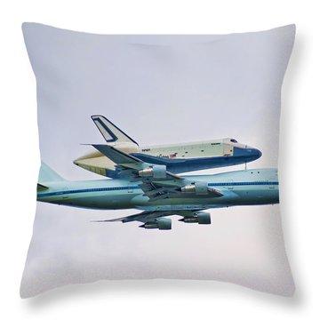 Enterprise 5 Throw Pillow by S Paul Sahm