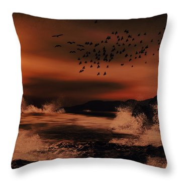 Episode In The Night  Throw Pillow by Lourry Legarde