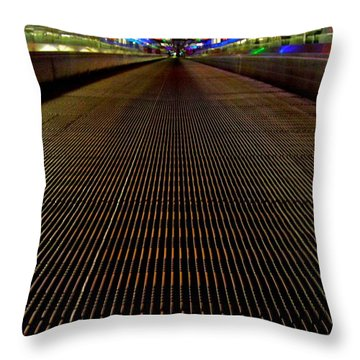 Escalator View ... Throw Pillow by Juergen Weiss