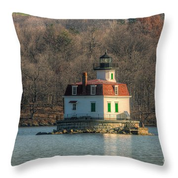 Esopus Meadows Lighthouse I Throw Pillow by Clarence Holmes