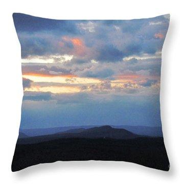 Evening Sky Over The Quabbin Throw Pillow by Randi Shenkman