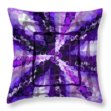 Evolve 3 Throw Pillow by Angelina Vick