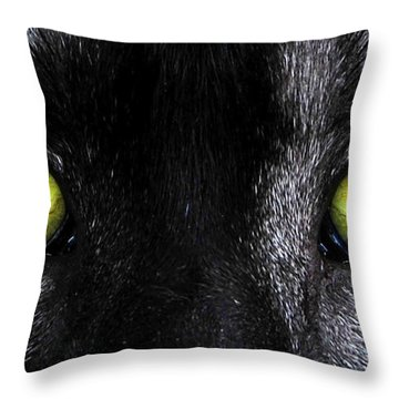 Eyes Throw Pillow by David Lee Thompson