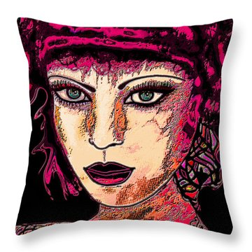 Face 13 Throw Pillow by Natalie Holland