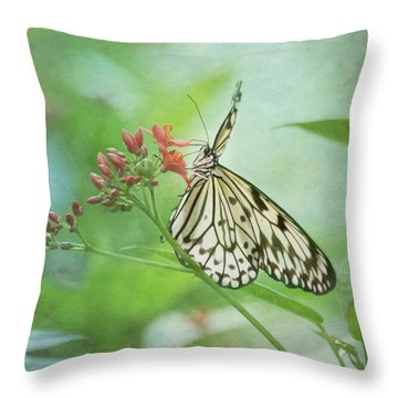 Fairy Dance Throw Pillow by Kim Hojnacki