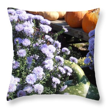 Fall Medley Throw Pillow by Kimberly Perry