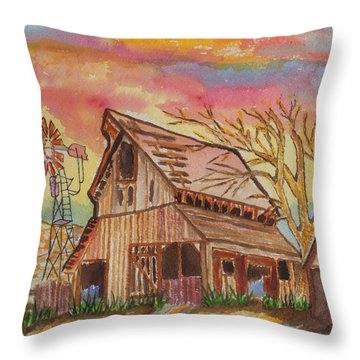 Fall Storms Coming Throw Pillow by Connie Valasco