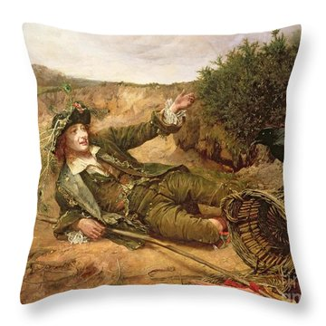 Fallen By The Wayside Throw Pillow by Edgar Bundy