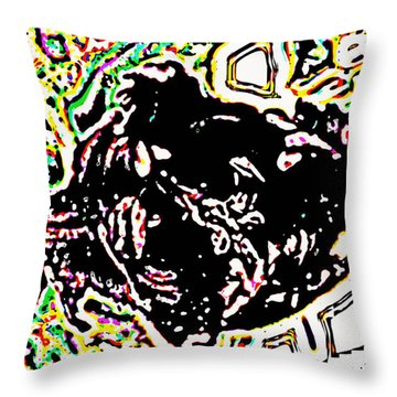 Fallen Through The Net Throw Pillow by Diane montana Jansson