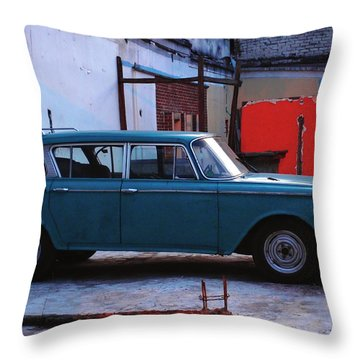 Family Truckster Throw Pillow by Skip Hunt