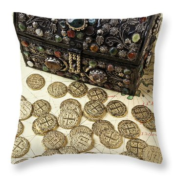 Fancy Treasure Chest  Throw Pillow by Garry Gay