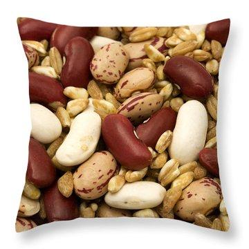 Farro And Beans Throw Pillow by Fabrizio Troiani