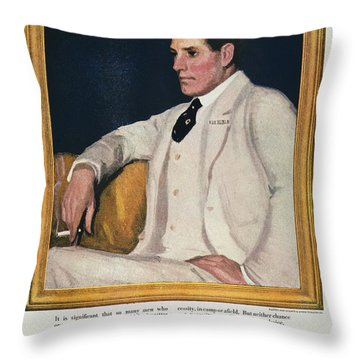 Fatima Cigarette Ad, 1917 Throw Pillow by Granger