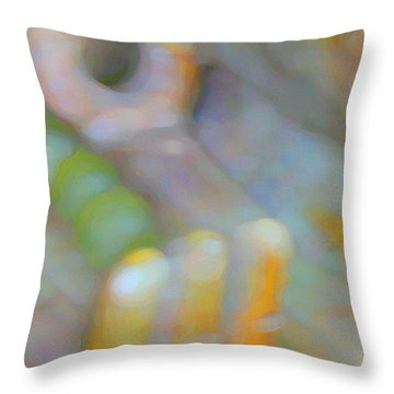 Throw Pillow featuring the digital art Fearlessness by Richard Laeton