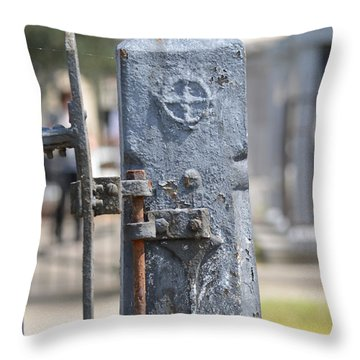 Fence Post Throw Pillow by Renee Barnes