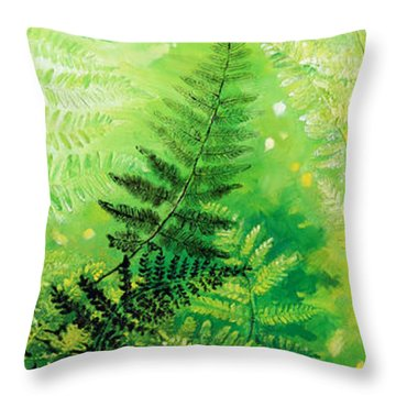 Ferns 4 Throw Pillow by Hanne Lore Koehler