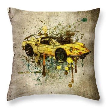 Ferrari Dino 246 Gts Throw Pillow by Svetlana Sewell
