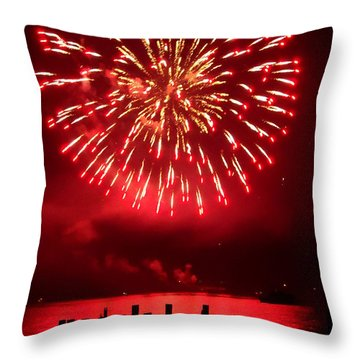 Fiery Fourth Throw Pillow by Peter Mooyman