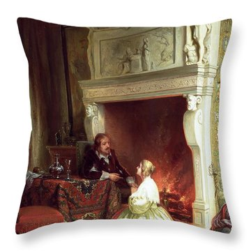 Figures In An Interior  Throw Pillow by Ary Johannes Lamme