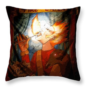 Fire Eater Throw Pillow by David Lee Thompson