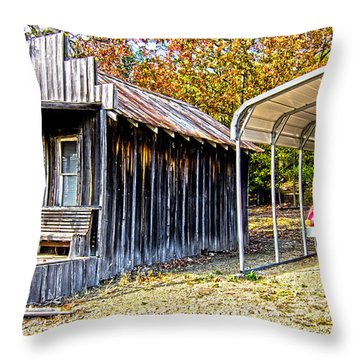 Fireman Cottage Throw Pillow by Douglas Barnard