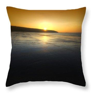 First Blush Throw Pillow by Yhun Suarez