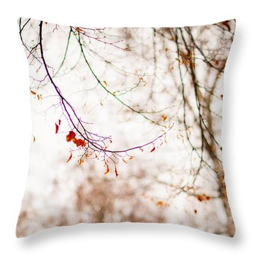 First Snow. Touch Of Gold Throw Pillow by Jenny Rainbow