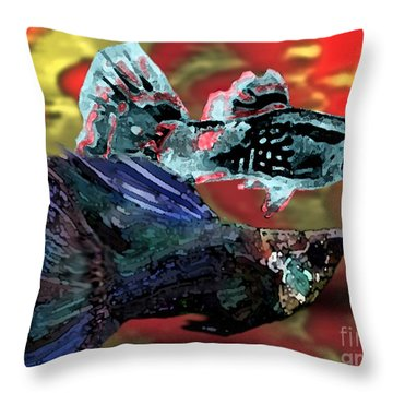 Fish In Digital Art Throw Pillow by Mario Perez
