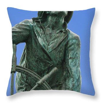 Fisherman's Memorial Throw Pillow by John Greim