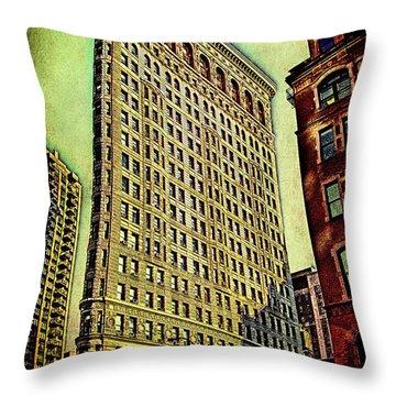Flatiron Building Again Throw Pillow by Chris Lord