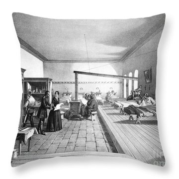 Florence Nightingale, English Nurse Throw Pillow by Photo Researchers, Inc.